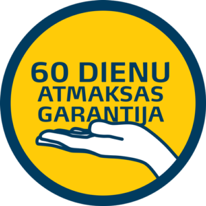 60 dienu naudas atmaksas garantija